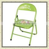 PU leather with metal tube cartoon kids chair folding children dining chair BS-106