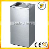 indoor square public usage stainless steel waste garbage basket