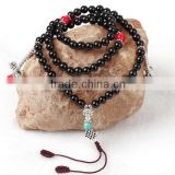 With Coral & Turquoise & Nylon Cord & Zinc Alloy Black Agate Bracelets