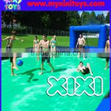 2016 Hot sale inflatable soap soccer pitch, outdoor inflatable soap football field for kids