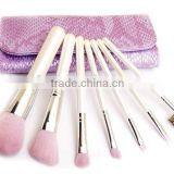 7pcs Pearl white cosmetic travel tool kit/private label makeup brush set/china manufacturer/make up tool bag products china