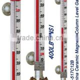 UHZ 517C12B magnetic float level gauge for fuel level measuring insturment max 450 centigrade 400lb