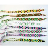 hot sale handmade polyester string charm bracelet                                                                         Quality Choice