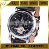 black dial genuine leather strap automatic watch winder no battery automatic mechanical watch
