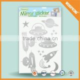 Popular bathroom sticker graceful easy to peel mirror stickers