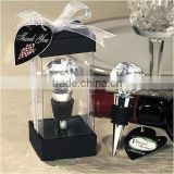 Wholesale diamond cutting crystal ball shape wine bottle stopper for wedding decorations