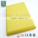Sound absorption panel fabric acoustic board 600x600mm decorative acoustic ceiling tiles for cinema