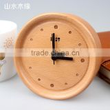 2016 New design wooden art and craft clock for wedding decoration ,decorative small clocks
