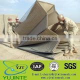 Factory! YJT Military Hesco Barrier galvanized welded and PVC coated gabion box(factory price)