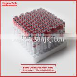 medical red top tube for blood collection test