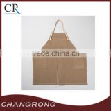 heavy cotton canvas apron with leather straps work apron
