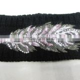 China factory made polyester crochet top baby headband