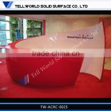 TW hot sale high gloss salon furniture hair , nail salon reception desks for salons