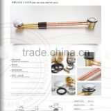 all brass bath tub drain pop-up,small plug,brass waste clamp,sanitary ware export product
