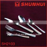 Stainless steel gold plating cutlery set
