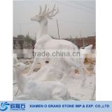 Garden Outdorr Stone Life Size Deer Statues