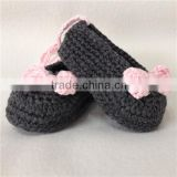 Crochet Baby girl baptism shoes