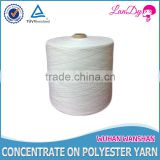 Manufacturer directly wholesale 20/3 Optical white 100% spun polyester yarn in cone or hank yarn