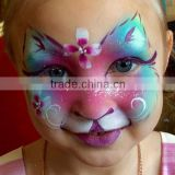 Halloween cartoon water transfer full face tattoo sticker makeup face stickers animal makeup face painting factory