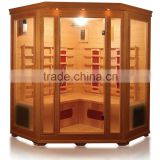 gym use losing weight 5 person corner type infrared function sauna room for fat people