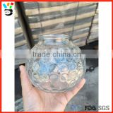 Recycled Home & Holiday Decoration Decoration Lantern Style Clear Dot Pattern Round Glass Jar