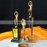 New Design Crystal Metal Athlete Cast Basketball Trophy