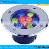 LED underground light lamps recessed buried floor lamp DC24V 3-in-1 RGB LED inground light