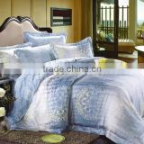 luxury bleached white/dyed/printed tencel bedding set/ bed sheet set/duvet cover wholesale