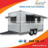 Produce The Best Global Hand Push Food Cart For Sale/Food Grilling Cart/Mobile Food Cart With Frozen Yogurt Machine