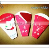 RECYCLABLE CREPE HOLDERS WITH PEFORATED LINES LOGO PRINTED