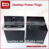 Wholesale Aluminum Desktop Hydraulic Pop Up Multiple Power Socket with Bottom Interface Panel for AV Accessories