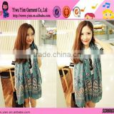 Fashion Sexy Girl Butterfly Scarf Factory Direct Hot Custom Low Price Cotton Thicken Printed Magic Scarf