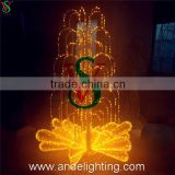 Newest design Ramadan outdoor 3D fountain Christmas decoration street motif light