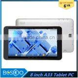 "2016 Newest 8"" Quad core tablet PC android 4.4.2 Tablet PC 1280X800Pixels IPS 5 camera 2.0MP wifi tablet pc"