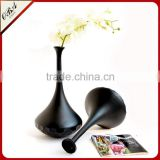 Wholesale Classic Black Swan Hand Carved Glass Vase High-grade Fashion Decoration Home Furnishing