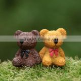 customized mini romantic bear resin figures/customized cartoon miniature resin figures/oem resin figurine made in China