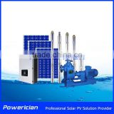 Farm Irrigation Solar Solution Fetch Water By Solar 94M Head Lift with Solar Pump Inverter IP65