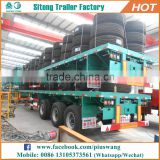 Factory direct 3 axles shipping container platform truck trailer 20 40 feet container semi trailer