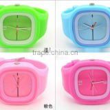 Fresh perfect flowery analog jelly candy smart quartz silicone watch for all