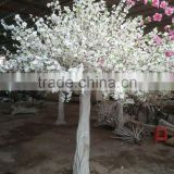 artificial peach blossom tree white silk flowers cherry wedding tree