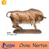 Centre plaza decor metal large Charging bull sculpture NTBA-B029Y