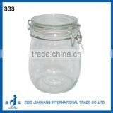 750ml air tightness glass clip lid jar with silicine plug for leak-proof