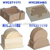 factory supply wholesale custom unfinished wooden coaster