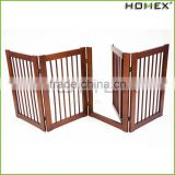 Modern Wood Best Pet Gate Portable Dog Fence Homex_BSCI Factory