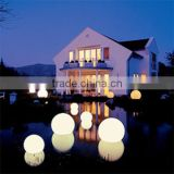 China Wholesale Christmas Decoration 17'' Plastic LED Moon Light Glow Balls for Garden / Swimming Pool
