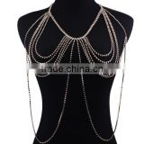 Shiny Crystal Rhinestone Bra Chest Body Chain Sex Body Chain bra chain body jewelry