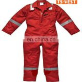 Apparel	workwear safety clothing flame retardant 100% cotton reflective tapes EN14116 Europ red coveralls