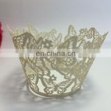 Butterfly Laser Cut cupcake wrappers birthday wedding party cake decoration favors supplies