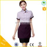 Western waiter uniform design/uniforms for hotel and reataurant wholesale