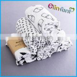 110*110CM Organic Cotton Muslin Baby Swaddle Blanket Soft Newborn Baby Bath Towel Multi Functions Baby Wrap